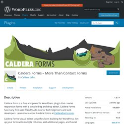 Caldera Forms - Drag and drop responsive WordPress form builder — WordPress Plugins