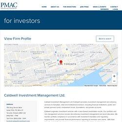 Caldwell Investment Management Ltd. - PMAC