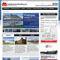 Official Caledonian MacBrayne Hebridean & Clyde Ferries site