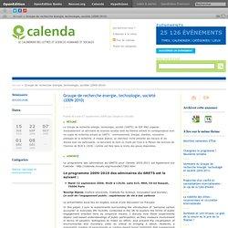 Groupe de recherche énergie, technologie, société (2009-2010)