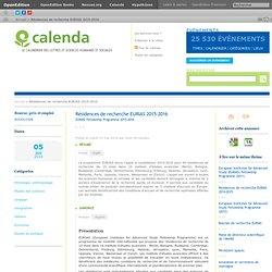 Résidences de recherche EURIAS 2015-2016
