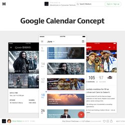 Google Calendar Concept — Adventures in Consumer Technology