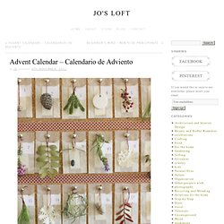 Advent Calendar – Calendario de Adviento » Jo's Loft