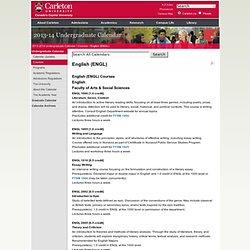 English (ENGL) < Calendars | Carleton University