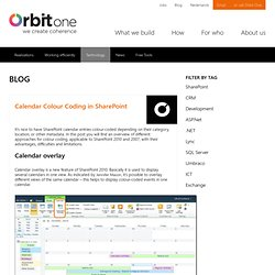 Calendar Colour Coding in SharePoint - Orbit One Blog