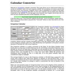 Calendar Converter