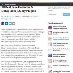 30 Best Free Calendar & Datepicker jQuery Plugins