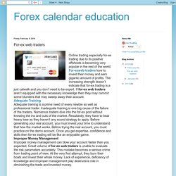 Forex calendar education: For-ex web traders