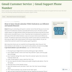 How to Sync Gmail calendar With Outlook in an Efficient and Quick Manner – Gmail Customer Service