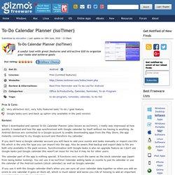 To-Do Calendar Planner (isoTimer)
