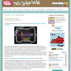 Calendar Linky Party