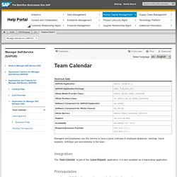 Team Calendar - Manager Self-Service (SAPUI5)