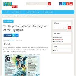 2020 Sports Calendar: It's the year of the Olympics. - KhelNaya