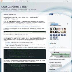 Full calendar - saving event using ajax / pagemethod/ webmethod in asp.net