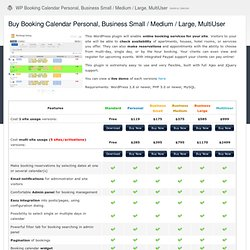 Buy Booking Calendar Personal, Business Small / Medium / Large, MultiUser