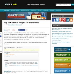Top 15 Calendar Plugins for WordPress