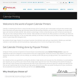 Calendar Printing, Personalized Calendar Printing Services
