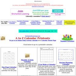 Calendar Printouts