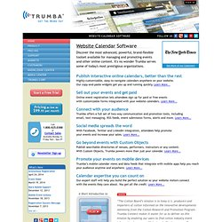 Online Website Calendar and Event Registration Software
