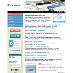 Trumba - Website Calendars - Event Calendars