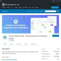 Event Calendar WD – Responsive Event Calendar plugin – WordPress plugin
