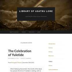 Library of Asatru Lore