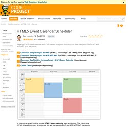 HTML5 Event Calendar/Scheduler - CodeProject