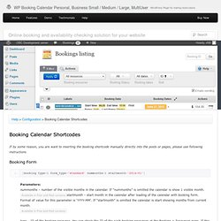 WP Booking Calendar Personal, Business Small / Medium / Large, MultiUser