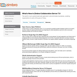 Group calendar software, document sharing, address book sharing: New Features from Zimbra