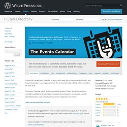 The Events Calendar — WordPress Plugins