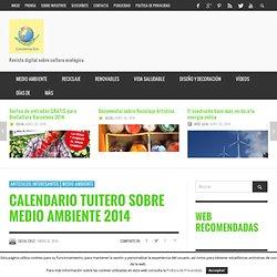 Calendario tuitero sobre medio ambiente 2014