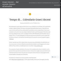 Tempo di… Calendario Graeci docent – Graeci docent… dal mondo classico all'attualità