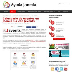 Calendario de eventos en Joomla 1.7 con Jevents