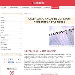 Calendario 2015 para imprimir - iCalendario.net