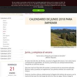 Calendario junio 2018 para imprimir - iCalendario.net