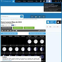 Calenario lunar para Mayo del año 2012 - fases de la luna