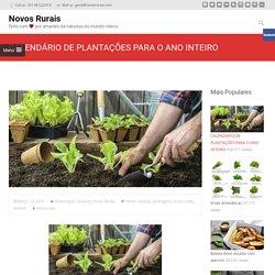 CALENDÁRIO DE PLANTAÇÕES PARA O ANO INTEIRO - Novos Rurais