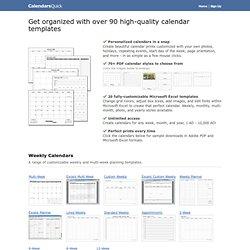 85 PDF Calendar Templates - CalendarsQuick.com
