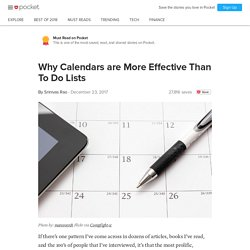 Why Calendars are More Effective Than To DoLists - Srinivas Rao - Pocket