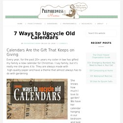 7 Ways to Upcycle Old Calendars
