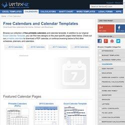 Free Calendars and Calendar Templates