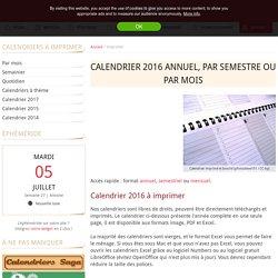 Calendrier 2014 à imprimer PDF et Excel
