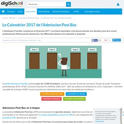 Calendrier Admission Post Bac 2017 : étapes et phases APB