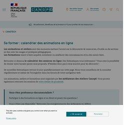 Se former : calendrier des animations en ligne - CanoTech