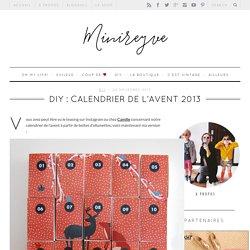 DIY : CALENDRIER DE L'AVENT 2013