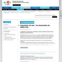 Calendrier du bac : les demandes du SNES-FSU