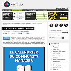 Le calendrier du community manager