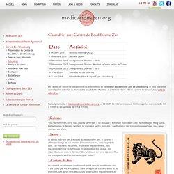 Calendrier 2015 Centre de Bouddhisme Zen