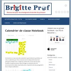 Calendrier de classe Notebook