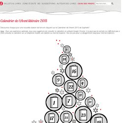 Calendrier de l'Avent 2015